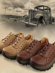 Wandern Herren Schuhe Leder Braun / Khaki