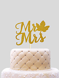 mr mrs with Maple Leaf  Cake Topper