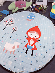 "Lovely Girl Toys Storage Bag Carpet Kids Game Mats diameter 59"" baby Crawling multifunctional round blanket Play Rug"