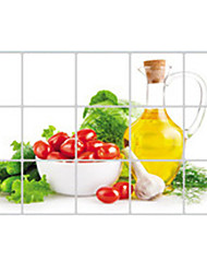 Wall Stickers Wall Decals, Spinach Oiler Kitchen Use PVC Wall Sticker