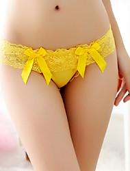 Femme Sexy / Lace Couleur Pleine G-strings & Tangas / Sous-vêtements Ultra Sexy String-Coton / Dentelle / Nylon