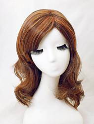 natürliche hellbraune gerade kurze Haarperücken mit Seite bang