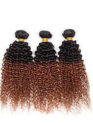"10""-26"" Indian Ombre Human Hair Weave Pack Of 3 Bundles Remy Weave Extensions 1B/30# 3 Pcs/Lot"