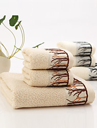 "1 Piece Bamboo Fabric Bath Towel  55"" by 27"" Trees Pattern Super Soft"