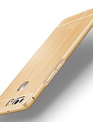 espalda Ultra-Fino Color Sólido Metal Duro metal bumper brushed back cover Cubierta del caso para Huawei Huawei P9