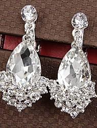 Brinco imitação de diamante / Gema Forma Geométrica / Lágrima Brincos Curtos Jóias 1pç Diário / Casual Liga / Strass FemininoDourado /