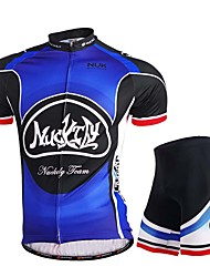Cycling Jersey with Shorts Men's Short Sleeve Bike Jersey Shorts Tops Bottoms Breathable Stretch Sweat-wicking Mesh/NetSpring Summer