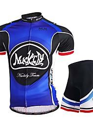 Maillot et Cuissard de Cyclisme Homme Manches courtes Vélo Maillot Cuissard  / Short Hauts/Tops BasRespirable Elastique