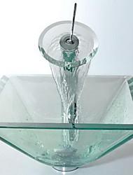 ( Vidrio Templado ) - Juego del Lavabo de Baño - Contemporáneo - de Vidrio Templado
