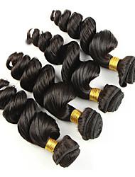 4pcs cheveux vierges de couleur brésilien 8-26inch vague lâche # 1b non transformés cheveux de vierge de première tisse vente chaude.