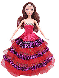 Great For Wear Skirts Girl Toy Princess Wedding Dress Trailing Dress Evening Dress (Without Baby)