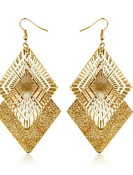 Diamond Hollow Out Golden Sequins Earrings