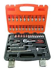 46 ensembles cr-v tête socket s2 tournevis fixé 72 dents combinaison de clé à cliquet véhicule de réparation automobile