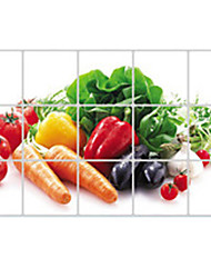 Wall Stickers Wall Decals, Carrot Tomatoes Kitchen Use PVC Wall Sticker