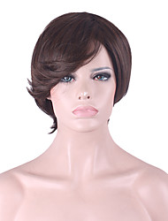 Best-selling Europe And The United States A Wig Dark Brown Short Hair Wig 4 Inch