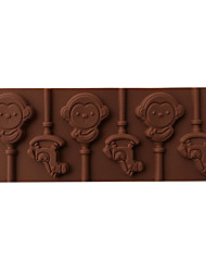 1PCS Rabbit & Monkey Shape For Chocolate Lollipop Mold, Cake Tools, Cookie , Jelly, Ice Mold Food Grade Silicone
