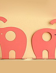 One Pair of Creative Giraffe Elephants Tinplate Bookends