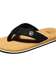 Herren-Slippers & Flip-Flops-Lässig-Polyester-Flacher Absatz-Flip - Flops-Braun / Gelb / Grün / Rot / Grau