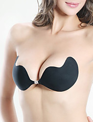 Women Gather Trace Invisible Silicone /Demi-cup Bras,Push-up Spandex