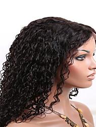 8-26 дюймов 100% человеческих волос полный парик шнурка 130% плотность Afro Kinky курчавая с волосами младенца