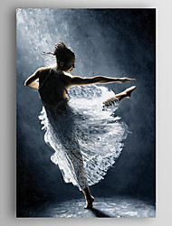 Oil Painting a Dancer Hand Painted Canvas with Stretched Framed Ready to Hang