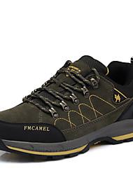 Hiking Shoes Men's Shoes Synthetic Wear Outdoor/ Tulle Sneakers  Split Joint / Dark Green / Khaki
