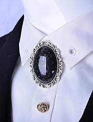 Oval Agate Stone Bolo Tie Artificial Crystal Men Bola Tie Sapphire Opal Necktie