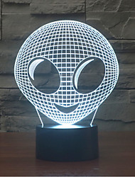 Alien 3 D Lamp Colorful Touch LED Vision Lamp Gift Atmosphere Desk Lamp Color-Changing Night Light