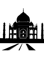 Fashion The Taj Mahal Pattern PVC Bathroom or Bedroom or Glass Wall Sticker Home Decor