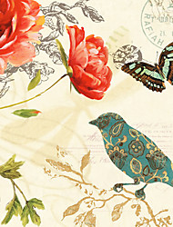 Stretched Canvas Print, Flower & Bird