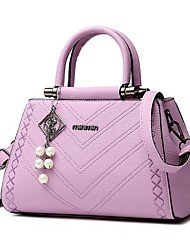Women PU Casual Tote White / Pink / Purple / Blue / Black