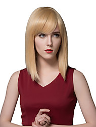 Elegant Long Straight Human Hair Wigs For Women