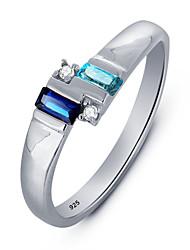 Ring Women's Multi-stone Silver Silver 6 / 7 / 8 Silver
