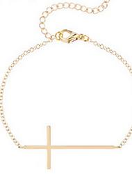 Kimiing Gold/Silver Cross Shape Chain Bracelet Jewelry
