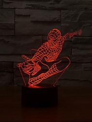 3d ночь свет 7 цветов изменчива комната ребенка декоративный светильник микро USB светодиодные лампы фантастический подарок