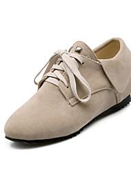 Women's Heels Summer / Fall Round Toe / Comfort Fleece Outdoor / Casual Wedge Heel Rivet Black / Yellow / Beige