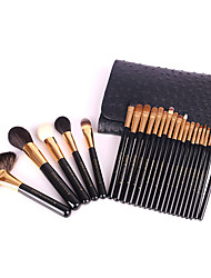 24 Beauty Tools Make Up Brush Wood Handle Brush