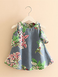 Printed Denim Skirt Children Skirt Baby Jumpsuit New Children'S Clothing For Girls
