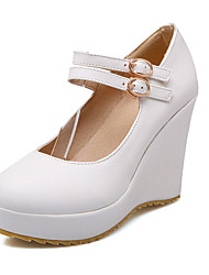 Women's Shoes Heel Wedges / Heels / Platform Heels Outdoor / Dress / Casual Black / Purple / White / Almond