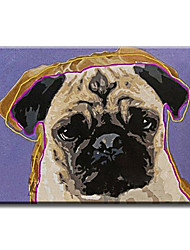 Peint à la main Animal Modern / Classique / Traditionnel / Réalisme / Méditerranéen / Pastoral / Style européen,Un Panneau ToilePeinture
