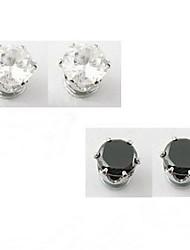 Earring Geometric Stud Earrings Jewelry Men Fashion Daily / Casual Alloy 1 pair Black / White