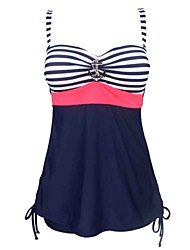 Womens Plus Size Vintage Sailor Pin Up Two Piece Tankini Swimdress(XL-5XL)