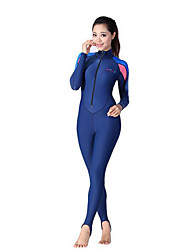 Dive&Sail Women's 1mm Wetsuits Dive Skins Full Wetsuit Ultraviolet Resistant Compression Full Body Spandex Polyamide Diving SuitLong