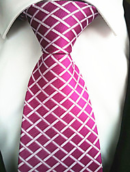 New Rose plaid Men's Tie Formal Suit Necktie Wedding Holiday Gift TIE0015