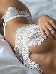 Lingerie en Dentelle Vêtement de nuit Femme,Sexy Dentelle Dentelle Blanc Noir
