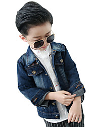Boy's Cotton Spring/Fall Patchwork Jeans Jacket Coat