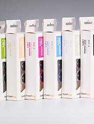 3 en 1 Clip 0,36 × grand angle + 180 ° poissons oeil + 15 × macro jeu de lentilles pour mobile or / argent / noir / bleu / rose / vert