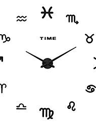 MQ - 016Large Size Creative Diy Wall Clock Art Background Wall Clock Modern Personality Quiet Bell