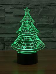 ilusão 3D conduziu a árvore decorativa levou luz lâmpada noite com forma de árvore de natal chape luz que muda de cor à noite