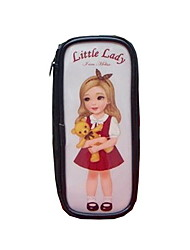Patent Leather Little Girl Pencil Case (Random Colors)